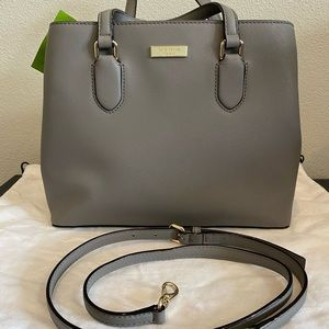 New Kate Spade Laurel Way Evanelie handbag in Gray